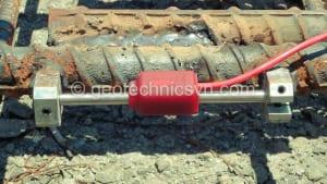 Lắp đặt thiết bị quan trắc ứng suất cốt thép Strain Gauge